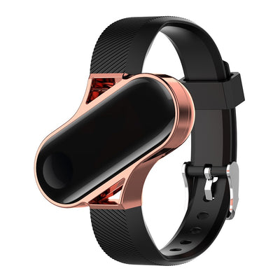 Wrist Strap For Xiaomi Mi Band 3 Silicone Straps+ Metal Shell Stainless Steel Case 2 In 1 Smart Bracelet Watchband For MiBand 3