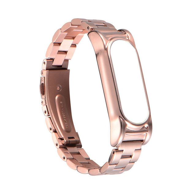 Wristband Watch 2018 High Quality Stainless Steel Luxury Metal Ultrathin New Strap For Xiaomi Mi Band 2 23cm #0703