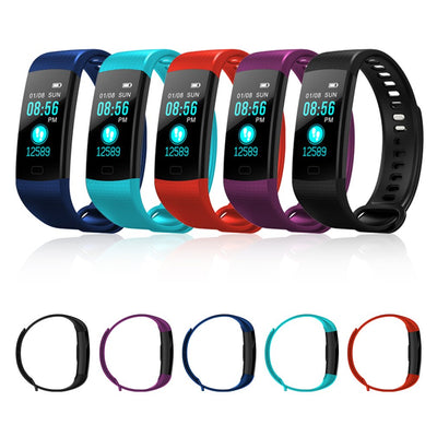 Y5 Smart Band Watch Color Screen Wristband Heart Rate Activity Fitness Tracker Smartband Electronics Bracelet PK Xiaomi Miband 2