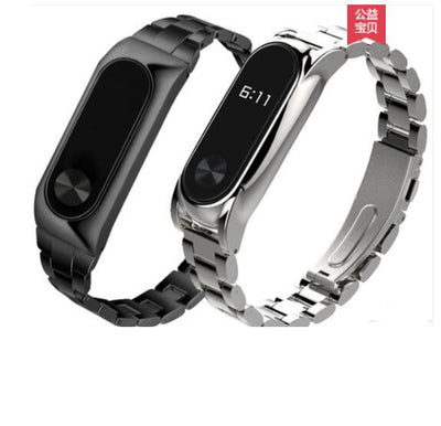 YIFALIAN Metal Strap For Xiaomi Mi Band 3 2 Stainless Steel Bracelet For MiBand2 3 Wristbands Replace For Mi Band 2 3