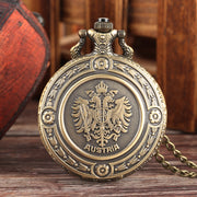 YISUYA Antique Pocket Watch For Men Personalized National Emblem Pocket Watches For Boys Necklace Pocket Watch Gifts For Teen