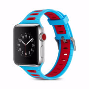 YUKIRIN Double-deck Color Sport Band For Apple Watch Series 4 3 2 1 Wrist Strap Bracelets Belt For Iwatch 42mm 38mm 44mm 40mm