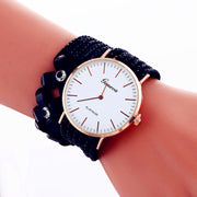 Zegarki Damskie Relojes Mujer New Fashion Couples Flower Diamond Leisure Korea Velvet Belt Personal Heartbeat Graffiti Watch