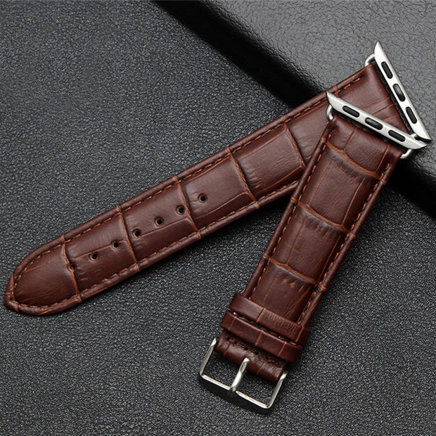 Blue Quality Genuine Cow Leather Strap Bracelet Watch Band 42mm 38mm Apple IWatch New Series 1 2 3 For Sale