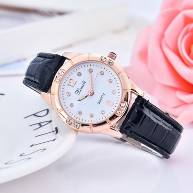 Dropshipping New 2019 Hot Selling Women Quartz Watches Fashion Laidies Horologium Shining Diamond Leather Strap Relogio Feminino