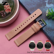 Genuine Leather Watchbands 16mm Watch Strap Womens Watchstrap Quick Release Bar For Moto360 Band Pink Bracelet Band