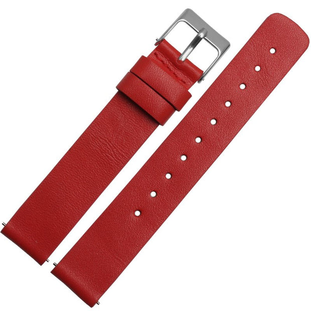 Red silver buckle