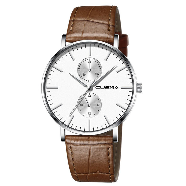 Horloges Fashion Men's Watch Leather Military Alloy Analog Quartz Bracelet Watch Wrist Watch Business Watches Relogio Masculino