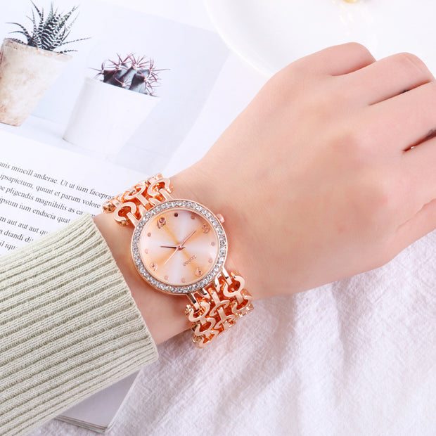 Montre Femme 2019 New Luxury Mirror Full Steel Quartz Watch Women Crystal Watches Fashion Gold Ladies Wristwatches Reloj Mujer