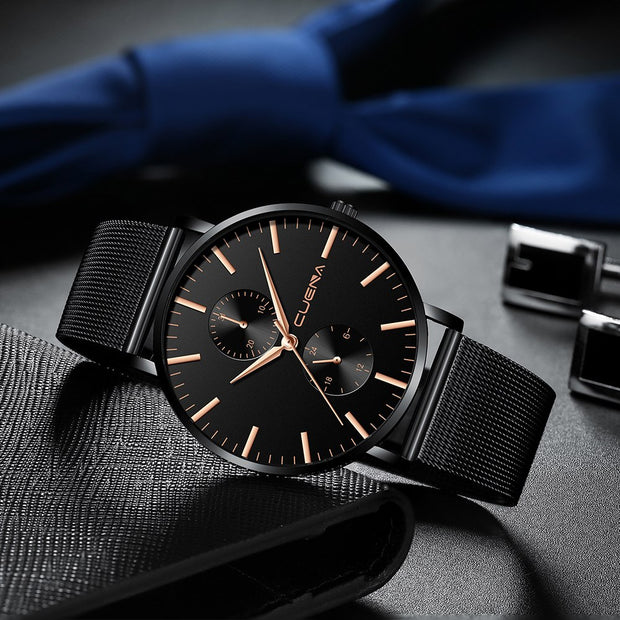 Relojes Hombre CUENA Top Luxury Brand Men Watches Simple Fashion Business Sports Chronograph Wrist Watches Relogio Masculino