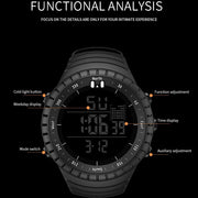 Watch Men Sports Scuba Diving Watches Digital LED Military Watch Men Fashion Casual Electronic Wristwatches Relogio Masculino
