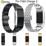 Watch Band Metal Strap For Fitbit Charge 2 Wrist Strap Screwless Stainless Steel Bracelet For Fitbit Charge2 Wristbands Replace