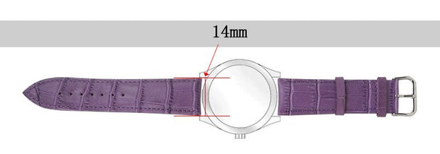 Women Men Genuine Leather Waterproof Watchband Watches Strap 14mm Suitable For All Brands White Black Red Pink...24color