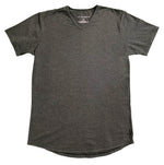 """Pencil Lead"" Grey Rounded Bottom V-Neck - JJ Parrot"