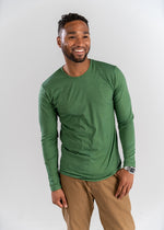 Olive Green Long Sleeve Crew