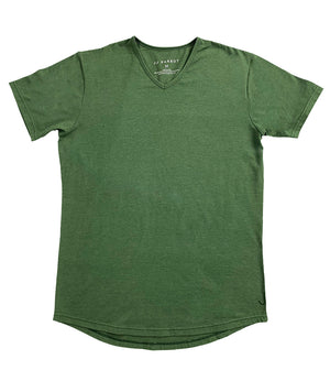 """Kryptonite"" Green Rounded bottom V-Neck - JJ Parrot"