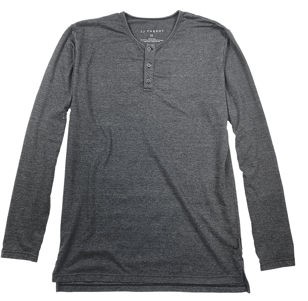 Charcoal Long Sleeve Henley