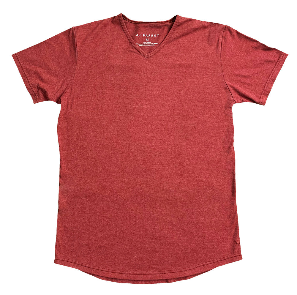 """F Grade"" Red Round Bottom V-Neck - JJ Parrot"