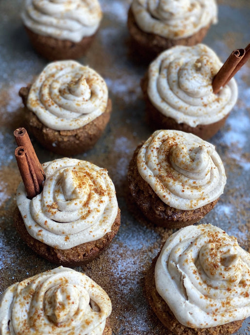 Chai Spiced Muffins w/ Maple Buttercream Icing