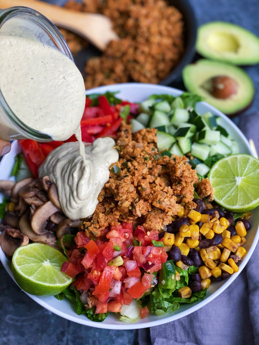 Chickpea Taco Meat Mexican Salad