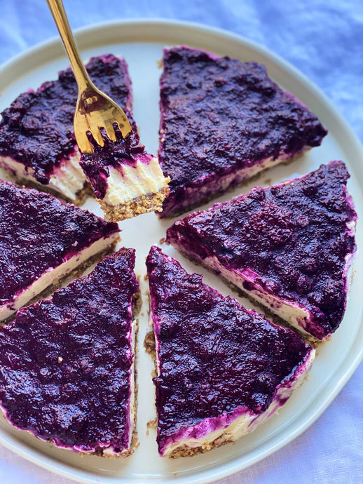 Decadent Vegan Cheesecake with Berry Jam