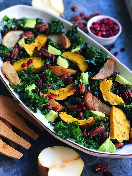 ROASTED PEAR, SQUASH, AND HONEY-PECAN SALAD