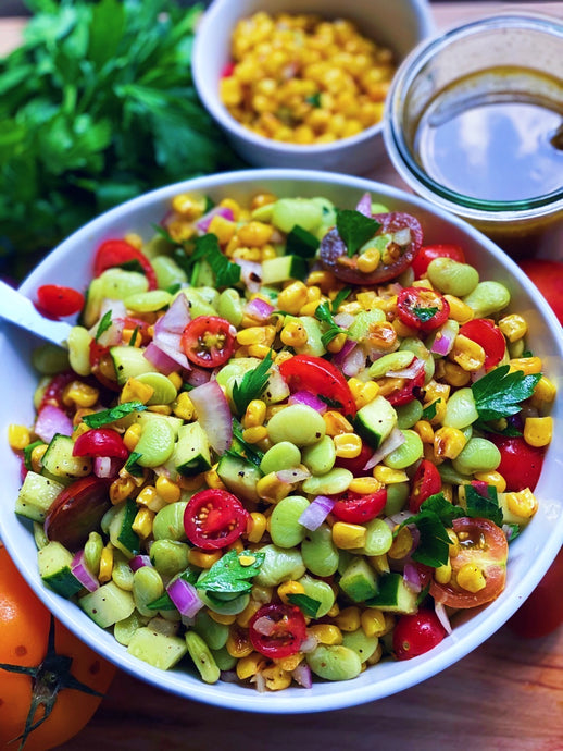 Summer Lima Bean & Roasted Corn Salad
