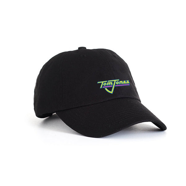 TOM JONES LOGO EMBROIDERED BLACK DAD CAP