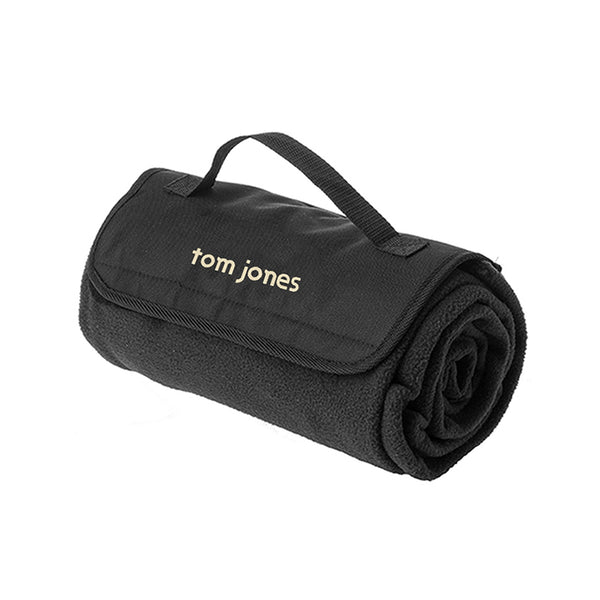 TOM JONES LOGO BLACK PICNIC BLANKET