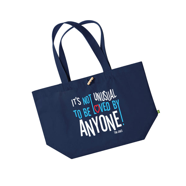 IT'S NOT UNUSUAL NAVY TOTE BAG