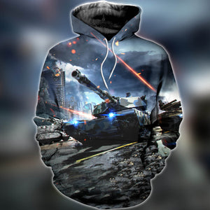 3D printed Tanks Warfare T-shirt Hoodie SNAK030508