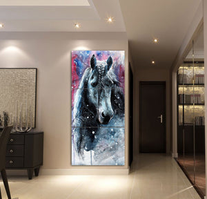 3-piece Beautiful Horse Canvas Wall Art CTM130316