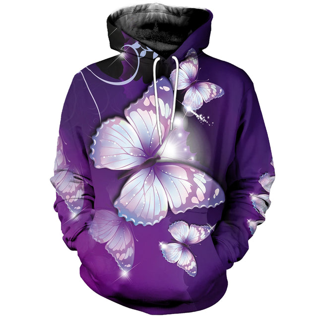 3D printed Butterfly T-shirt Hoodie AOTL150302