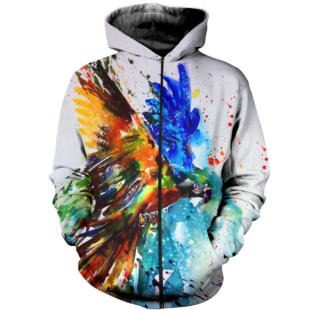 3D Printed Parrot Watercolor Clothes