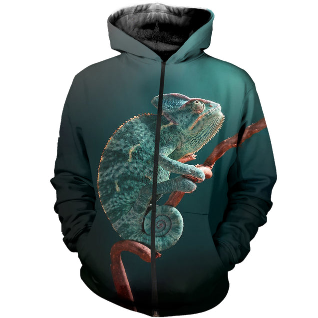 3D printed  Awesome Chameleon T-shirt Hoodie ADUK260401