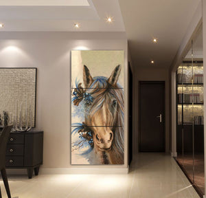 3-piece Beautiful Horse printed Canvas Wall Art ADAK070506