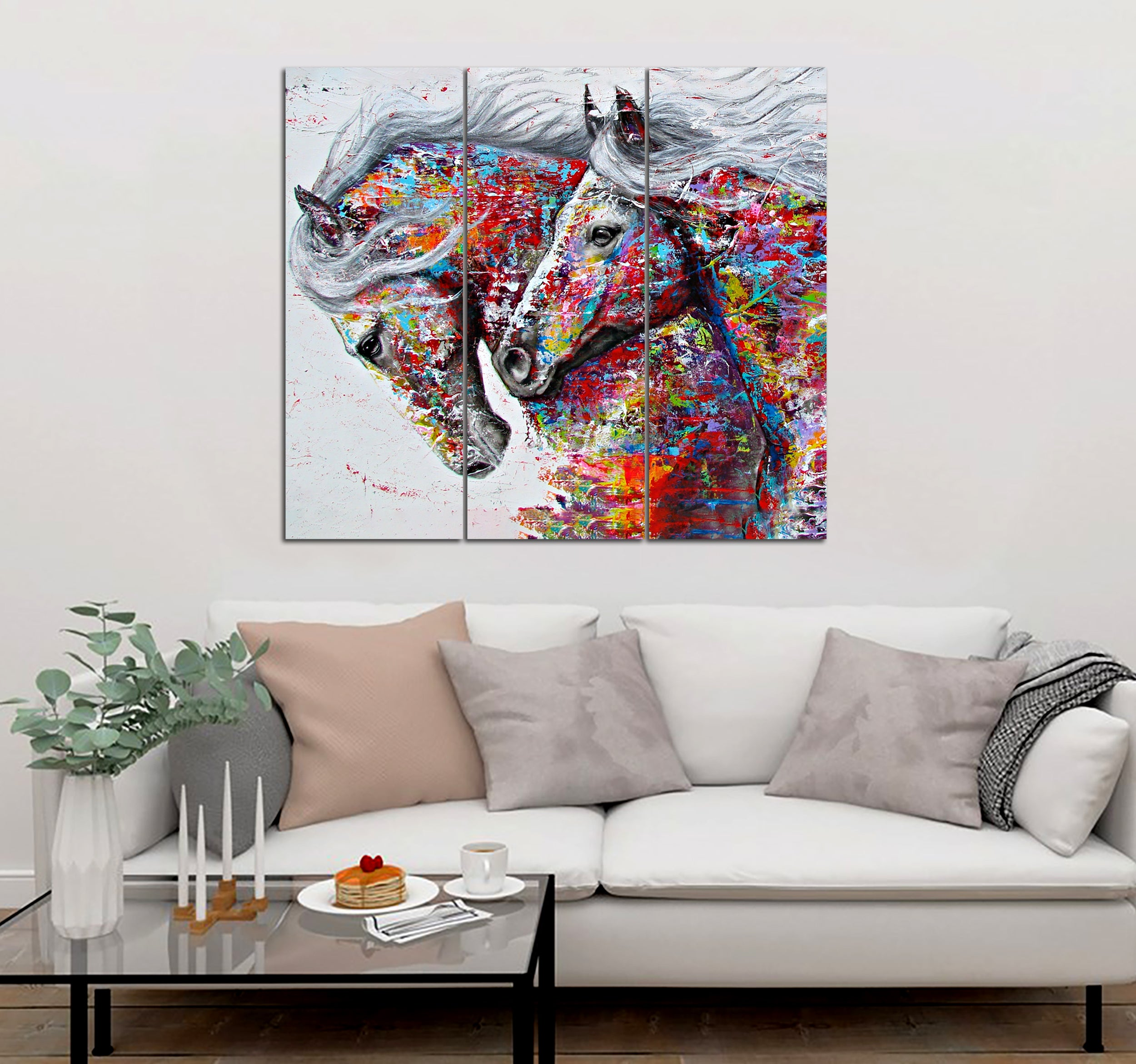 3-piece Horse Art Canvas Wall Art SMTM260407
