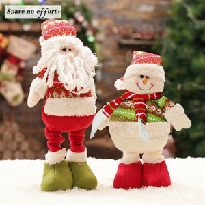 Retractable Christmas Dolls Standing Figurine