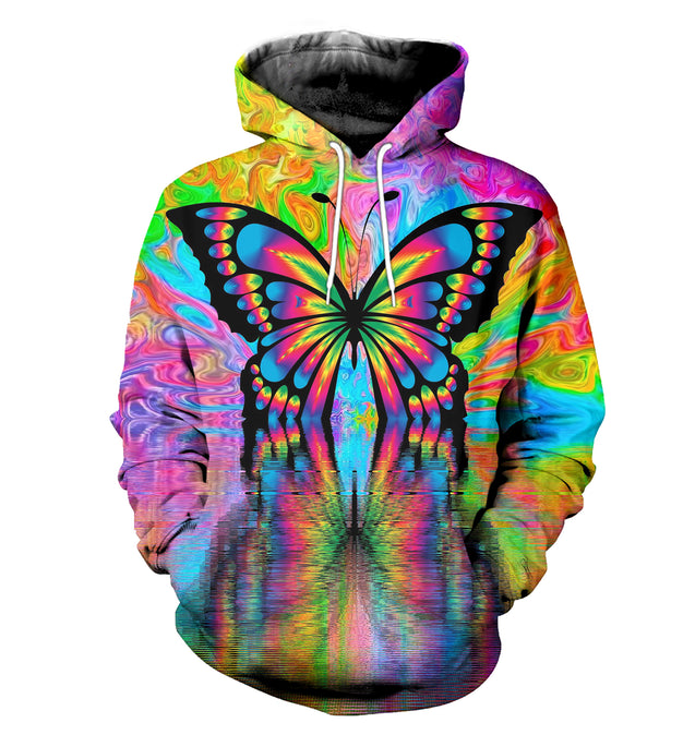 3D printed Butterfly T-shirt Hoodie ST0L230404