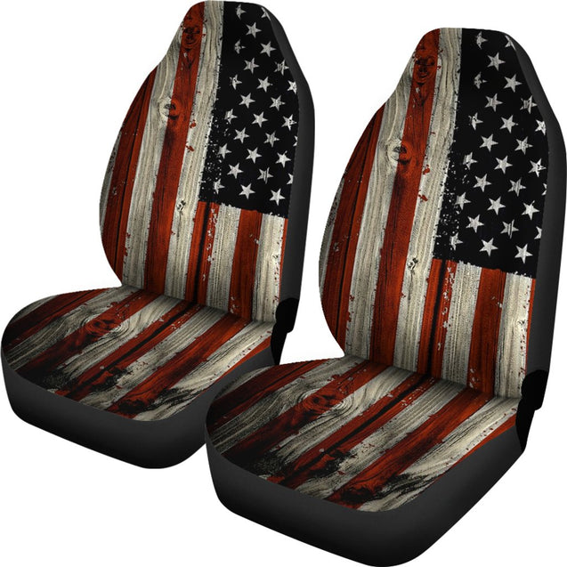 2pcs America Flag Car Seat Covers