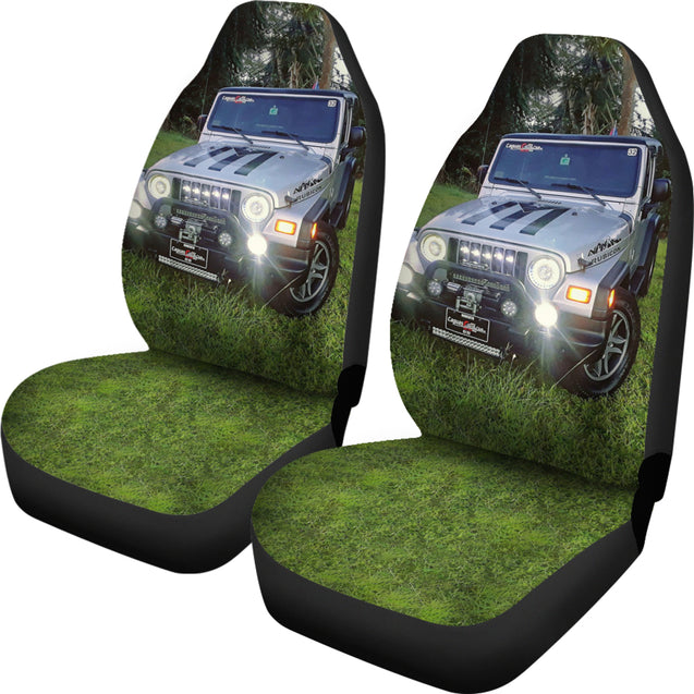 2pcs Jeep Car Seat Cover