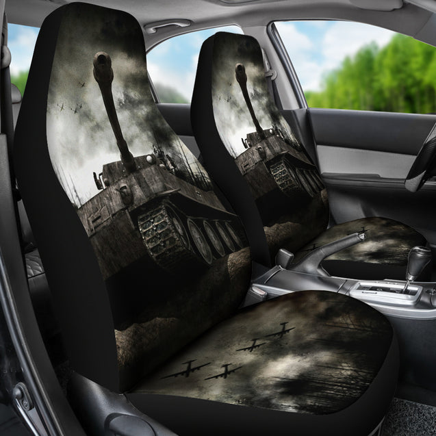 2pcs Tiger Tank Car Seat Cover