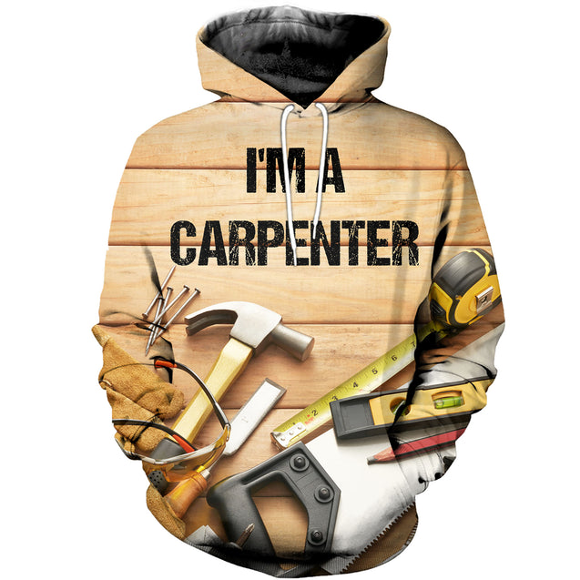 3D printed Awesome Carpenter T-shirt Hoodie SAUK190410