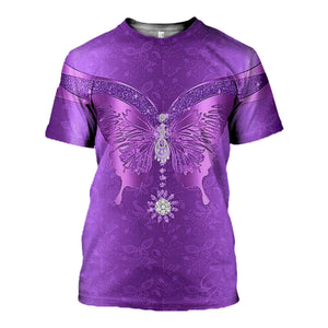 3D printed Purple butterfly Tops