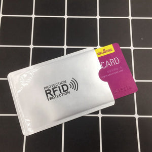 Silver RFID Bank Card Holder