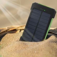 Load image into Gallery viewer, Portable 20000 mAh Solar Power Bank