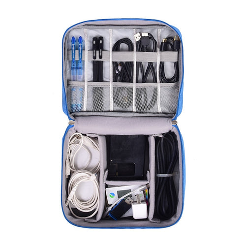 Digital Cable Organizer Travel Pouch