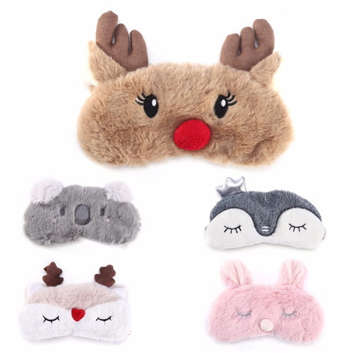 Cartoon Plush Sleeping Mask