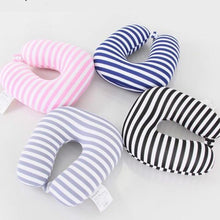 Load image into Gallery viewer, Striped U Shape Travel Pillow