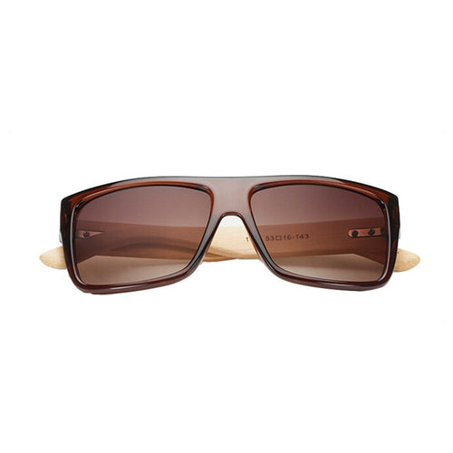 Wooden Square Frame Sunglasses